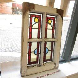 画像1: 格子枠が素敵なイギリスアンティークステンドグラス