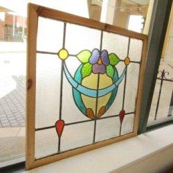 画像1: 丸みを帯びた可愛いデザイン♪イギリスアンティークステンドグラス