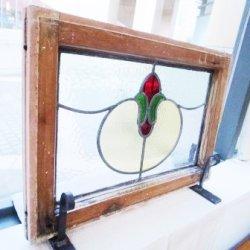 画像1: 丸みがあって可愛いデザイン イギリスアンティークステンドグラス